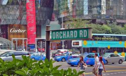 Orchard road Singapore shopping centers