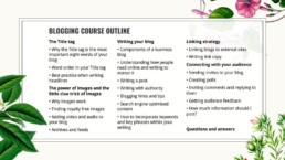 business blogging course in Singapore 2