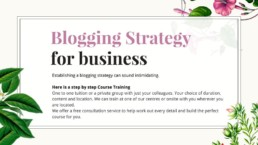 business blogging course in Singapore