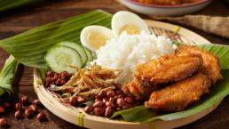 Nasi Lemak Singapore food